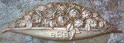 -Bronze Corniche d'ornementation 1930 Art Deco Corbeille de Roses