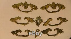 Bronze Ornements De Commode Louis XV Poignees De Tirage
