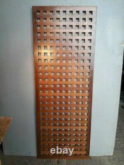 Caillebotis en acajou epoque années 60 panneau 150/55cm