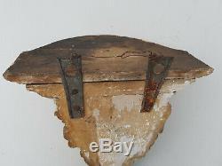 Console d' applique en bois polychrome 18ème