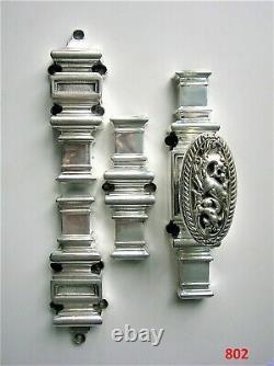 Cremone bronze argenté poignee serrure porte fenetre chateau maison maitre FT