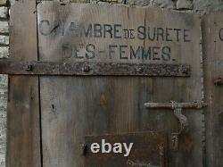 Curiosité Portes de Prison Chambre de Sureté Homme Femme Bois massif Acier 1900