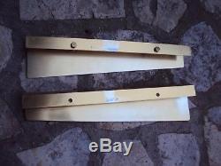 Deux poignées de porte de magasin en métal tirez et poussez