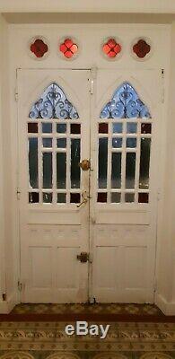 Double porte en bois + imposte maison de maître de la fin du XIXème siècle