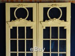 Double porte vitrée Hausmannien communication séparation glass door 19 thc