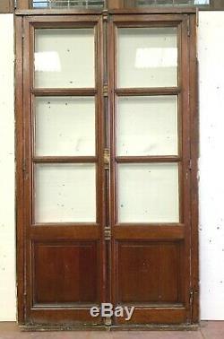 Double portes de passage en chêne massif Porte fenêtre chêne XX siècle