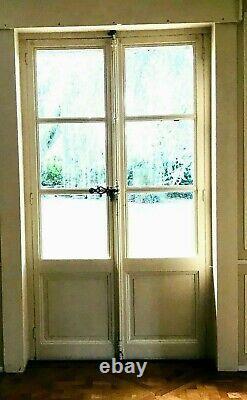 Double portes de passage en sapin massif Porte fenêtre sapin XX sièclle