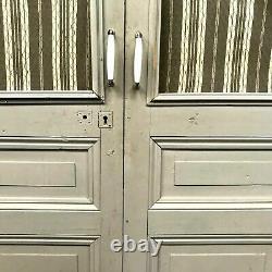 Double portes de placard Porte panneautées et grillagées XX siècle