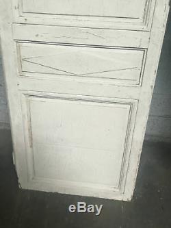 Double portes de placard en sapin patiné de style Directoire Portes anciennes