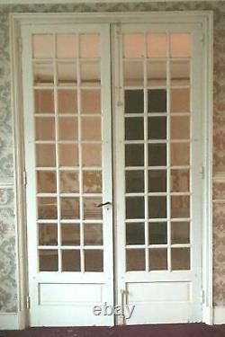 Double portes de séparation Petits carreaux biseautés XX siècle