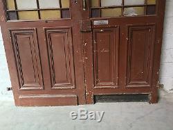 Double portes de séparation à encadrement vitrées / Porte de passage