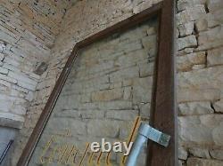 Élément Architecture Commerce Porte Magasin Enseigne Peinte sur Verre Chêne 1960