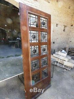 Élément Architecture Maison Villa Porte entrée Vintage Chêne Grille Fonte 1970