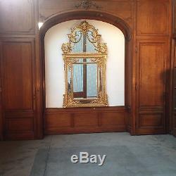 Élément d'habillage mural / Boiserie Louis XV en chêne massif sculptés /