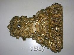 Enorme gache serrure bronze doré chateau maison maitre deco architecture