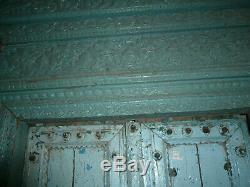 Enorme porte d'entrée indienne ancienne 156 x H272 cm