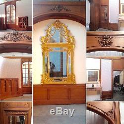 Ensembe boiserie louis XV en chêne sculptées surficie 600 cmX420 cm XX siècle