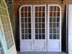 Ensemble de 3 porte vitrée Hausmannien communication séparation glass door 19 th