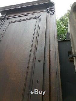 Ensemble de 4 porte de placard avec boiserie chene, XIXème (2)