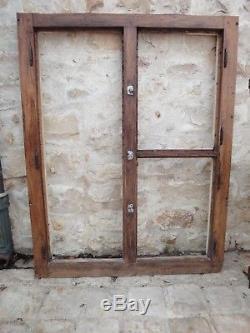 Façade avec 3 portes chambre froide glacière boucher ancienne / Meuble de métier
