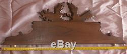 Fronton / Dessus de porte bois sculpté Carquois & Flambeau style Louis XVI