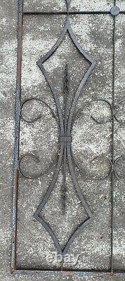 GRANDE GRILLE DE PORTE EN FER 162,7 cm x 61,3 cm