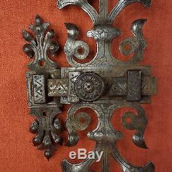 GRAND LOQUET ANCIEN FER FORGÉ HAUTEUR / 30 cm
