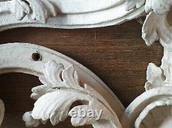 Grand fronton, dessus de porte/miroir/bois sculpté /DECORATION XVIII ème