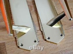 Grand une paire de 38.1cm laiton art déco poignées Tirage + doigt porte poussoir