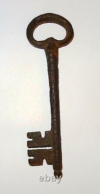 Grande Cle Medievale En Fer Forge Haute Epoque 16° S. Ancient Medieval Key