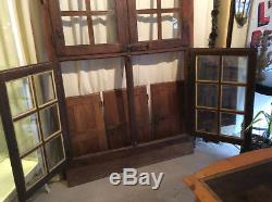 Grande Fenêtre en Chêne fin XVIIème à 4 volets amovibles, élément de boiserie