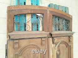 Grande double porte en chêne style Louis XV 19ème