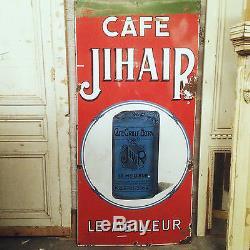 Grande plaque emaillé thème cafe JIHAIR. XX siècle