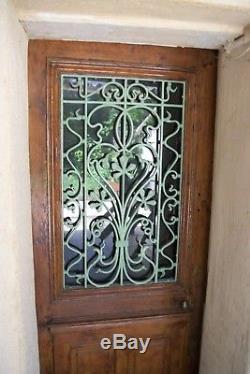 Grille en fonte de porte ancienne ART NOUVEAU