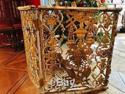 Grilles De Choeur D'église En Fonte Massive Avec Portillon Époque XVIII Ème 5,40