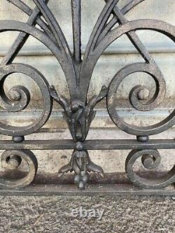 Grilles de porte ou fenêtres art déco en fonte 34 x 91 cm