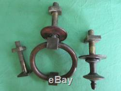 Heurtoir anneau Poignée bronze ancien style Directoire porte d'entrée