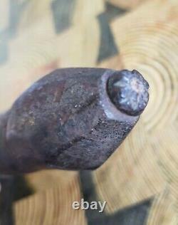 Heurtoir de porte en fer forgé très ancien 14 cm