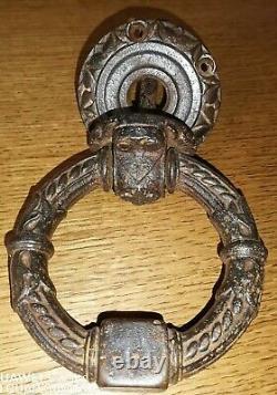 Heurtoir ou poigné de porte d'entrer avec ancre de marine en fer forger 19ème