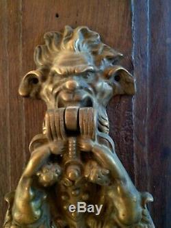 Important Heurtoir De Porte En Bronze