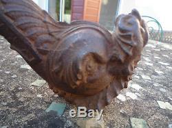 Important marteau heurtoir de porte ancien XIX ème forme dauphin monstre marin