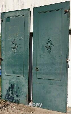 Imposante Ancienne Porte Cochère. De Porche. D entrée. 270 cm Fer Forgé. Métal