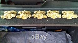 LOT laiton plaques de propreté poignées boutons entrés serrures cylindres clés