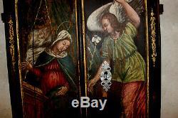L Ange De L Annonciation Peinture Sur Bois XVII Eme Siecle