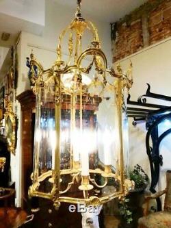 Lanterne En Bronze Doré. Style Louis XIV XVIII Eme