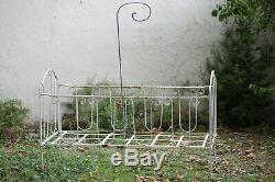 Lit en fer forgé Les cotés se plient / Bed, wrought iron 19th century