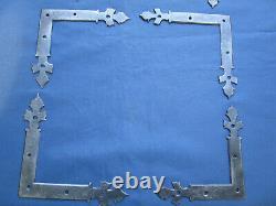 Lot 14 équerres fer forgé ouvragés ancienne porte côté 14,5 et 15,5 cm