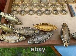 Lot De Poignee Plaque Proprete Bronze Decor Perle