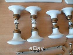 Lot De Poignees Clanches De Porte En Ceramique + Plaques Vis Carres De 7 MM