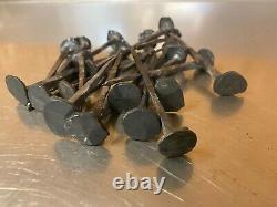 Lot de 22 clous anciens en fer forgé 10cm